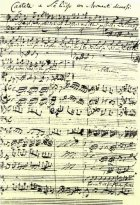 Opening page of Bach's Coffee Cantata