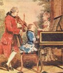 Wolfgang and Leopold Mozart